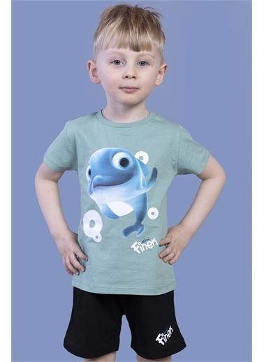 Toontoy Kids Toontoy Erkek Çocuk Balık Baskılı Şortlu Takım Yeşil